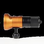 Audacious Dive Light Series 189 Front Ball - Orange
