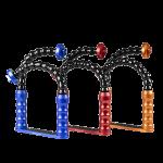 Bluestack Bodemplaat - 2 Flex-arm - 22cm - Blauw - Rood - Oranje
