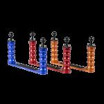Bluestack Bodemplaat - 2 Handvaten Bal - 30cm - Blauw - Rood - Oranje