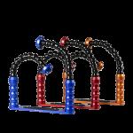 Bluestack Bodemplaat - 2 Flex-armen - 30cm - Blauw - Rood - Oranje